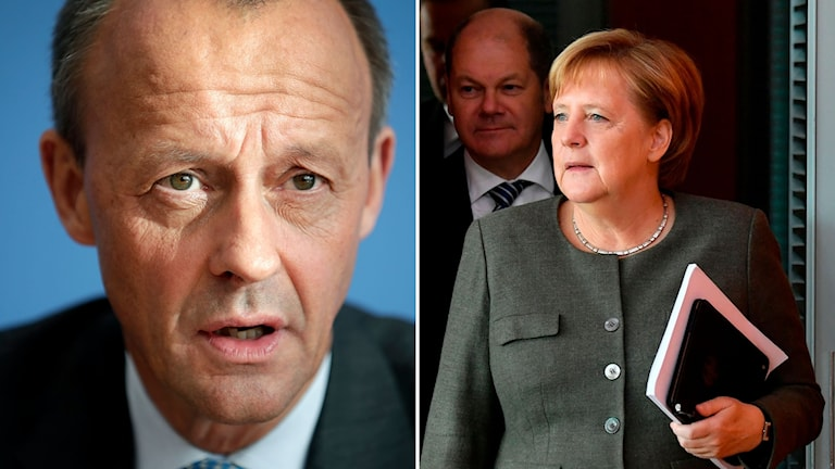 Friedrich Merz och Angela Merkel