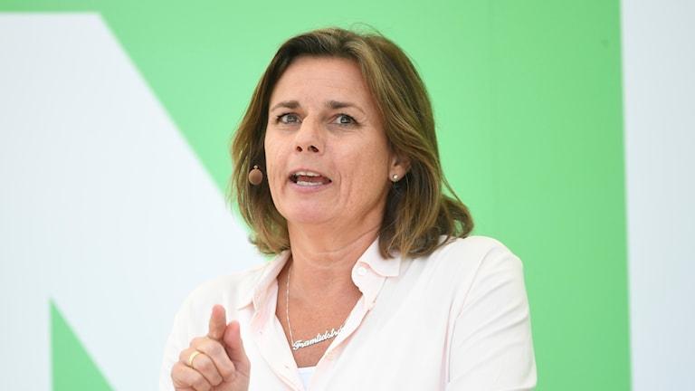 Isabella Lövin talar i Almedalen