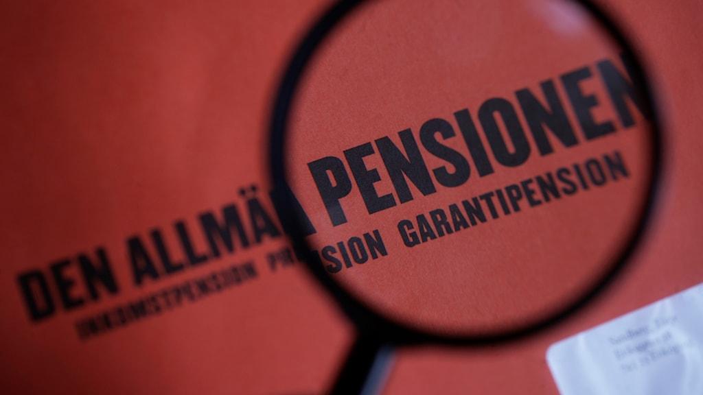 Garantipensionen berörs av invandringen. Fredrik Sandberg / TT.