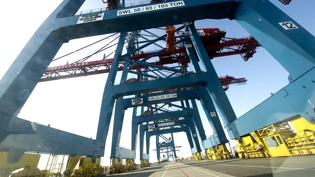 Göteborgs hamn drabbas av coronapandemin