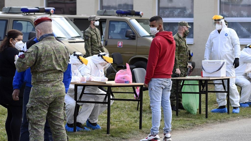 Virustestning i Slovakien tidigare i år