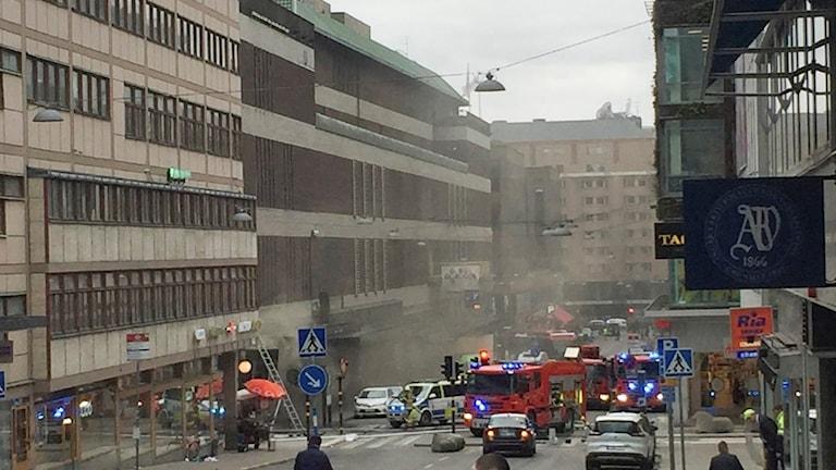 Drottninggatan, Stockholm lastbil