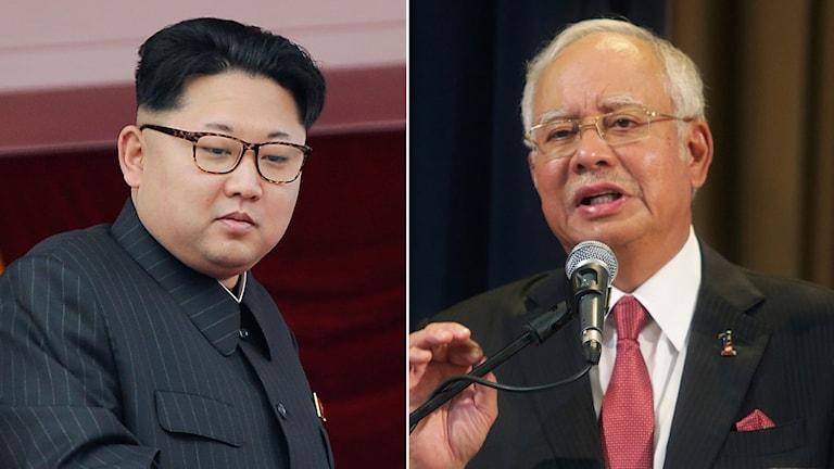 Kim Jong-Un och Najib Tun Razak