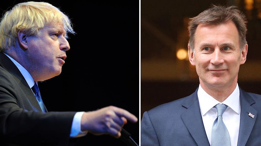 Boris Johnson och Jeremy Hunt.