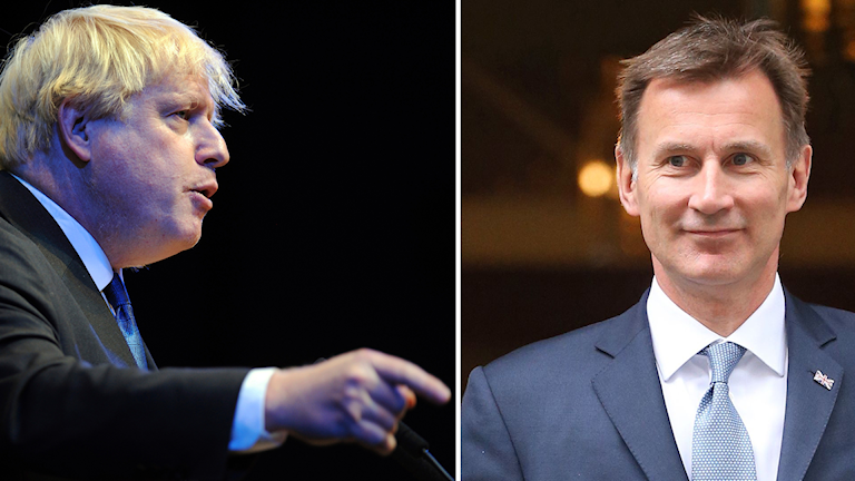Boris Johnson och Jeremy Hunt.