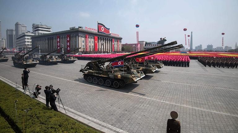 Militärparad i Nordkorea