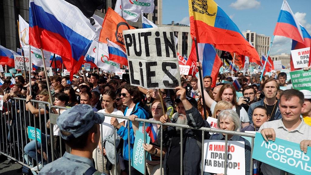 Protester i Moskva