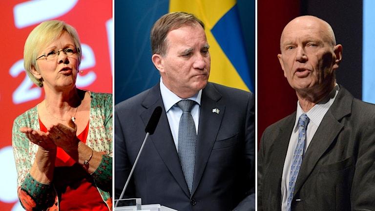 Wanja Lundby Wedin, Stefan Löfven och Pierre Schori.