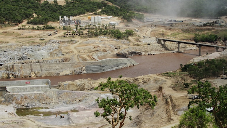 "Platsen där ""The Grand Ethiopian Renaissance Dam"" byggs."