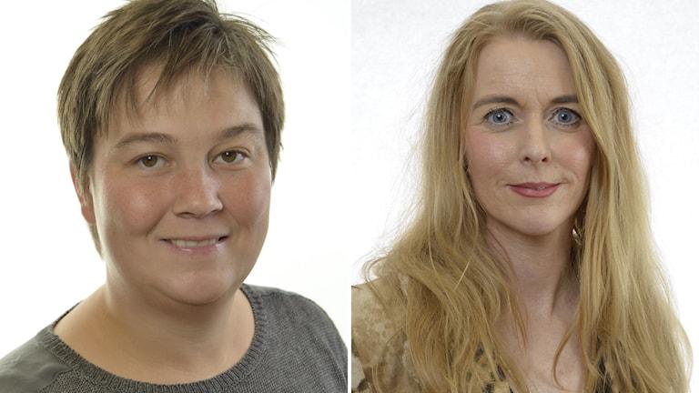 Bildkollage med porträtt på två kvinnor