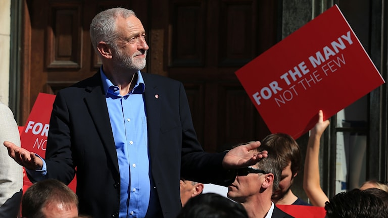Jeremy Corbyn, partiledare för Labour i Storbritannien.