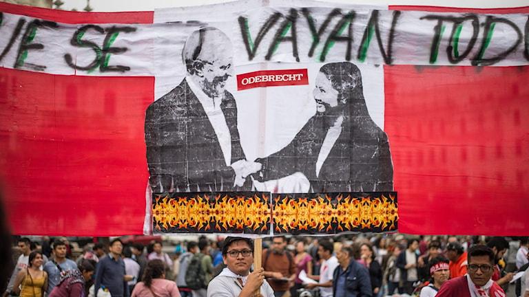 Demonstration i Peru