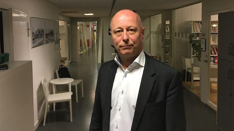 Peter Ekborg, generaldirektör på Inspektionen för arbetslöshetsförsäkringen, IAF. Foto: Anders Jelmin/Sveriges Radio