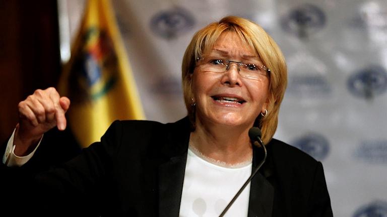 Kvinna med glasögon. Luisa Ortega Díaz, Venezuelas högsta åklagare.