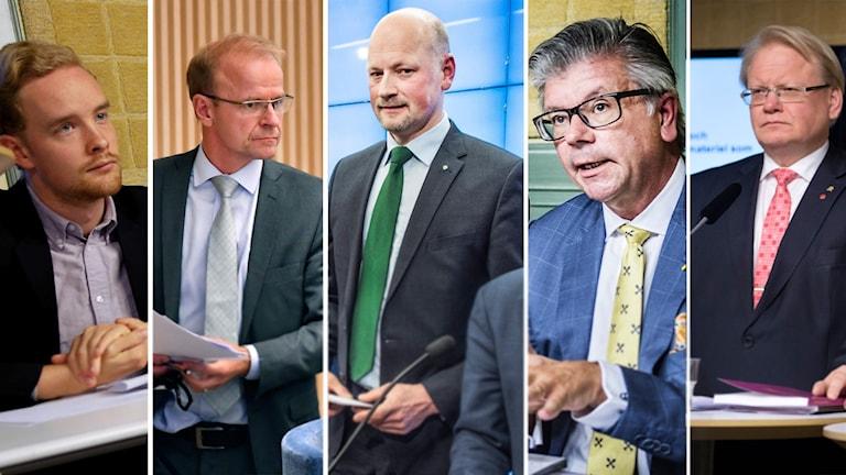 försvarsuppgörelse 2017, Anders Schröder MP, Mikael Oscarsson KD, Daniel Bäckström C, Hans Wallmark M, Peter Hultqvist S
