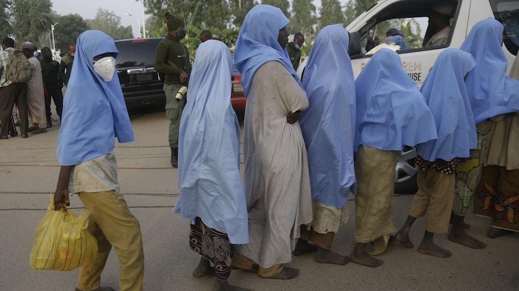 Kidnappade flickor Nigeria
