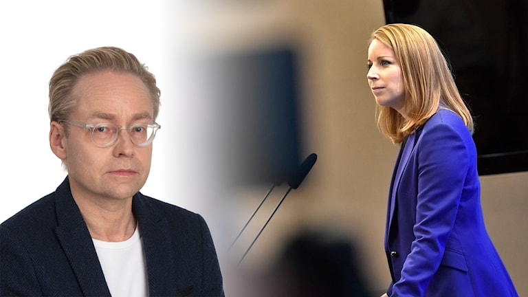 Bildkollage på Fredrik Furtenbach och Annie Lööf.