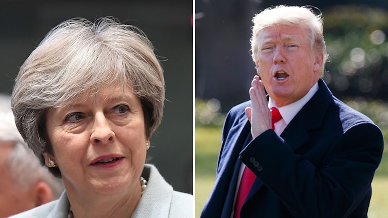 Theresa May, Donald Trump
