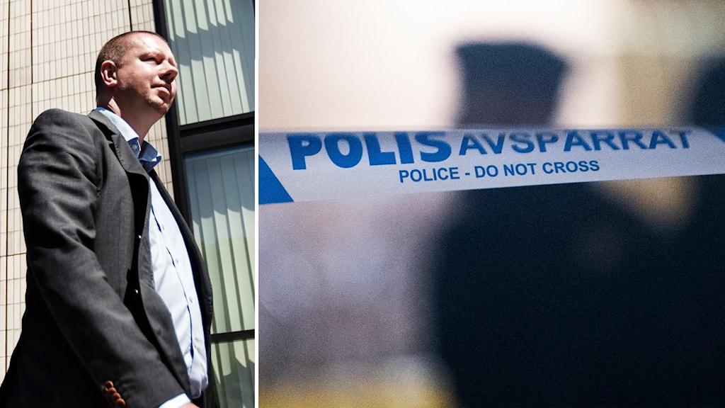 Roger Fredriksson (M) är kommunalråd i Ronneby. Enligt honom ligger en mer långtgående konflikt bakom nattens upplopp.