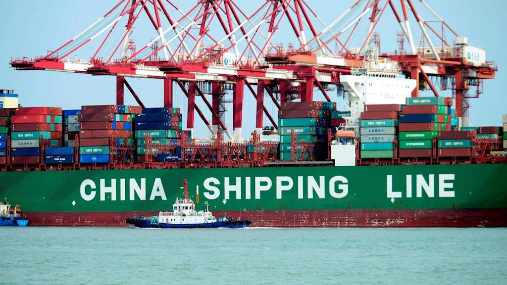 Ett kinesiskt fraktfartyg.