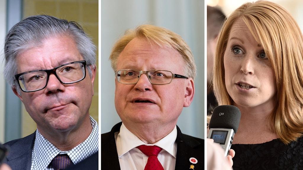Hans Wallmark, Peter Hultqvist, Annie Lööf