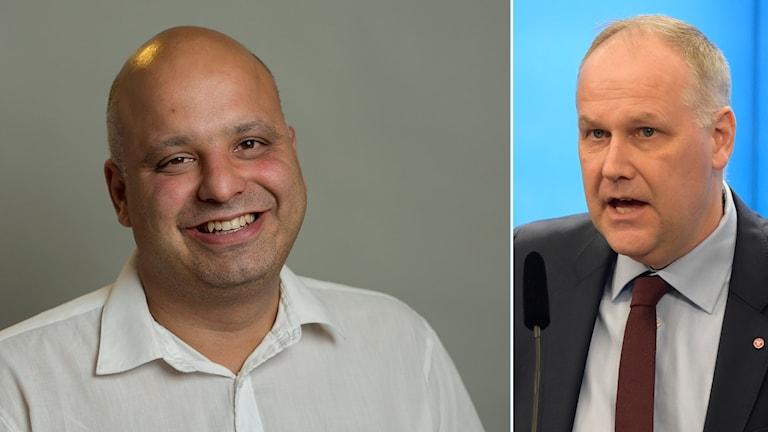 Daniel Sestrajcic, Vänsterpartist i Malmö och Jonas Sjöstedt, partiledare för V