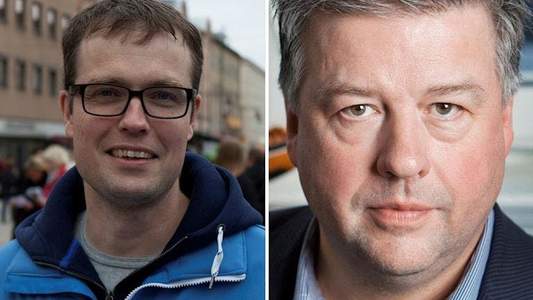 Bildkollage på två män.