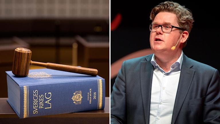 Sawir buugga xeerka Sweden iyo Gunnar Strömmer (M).