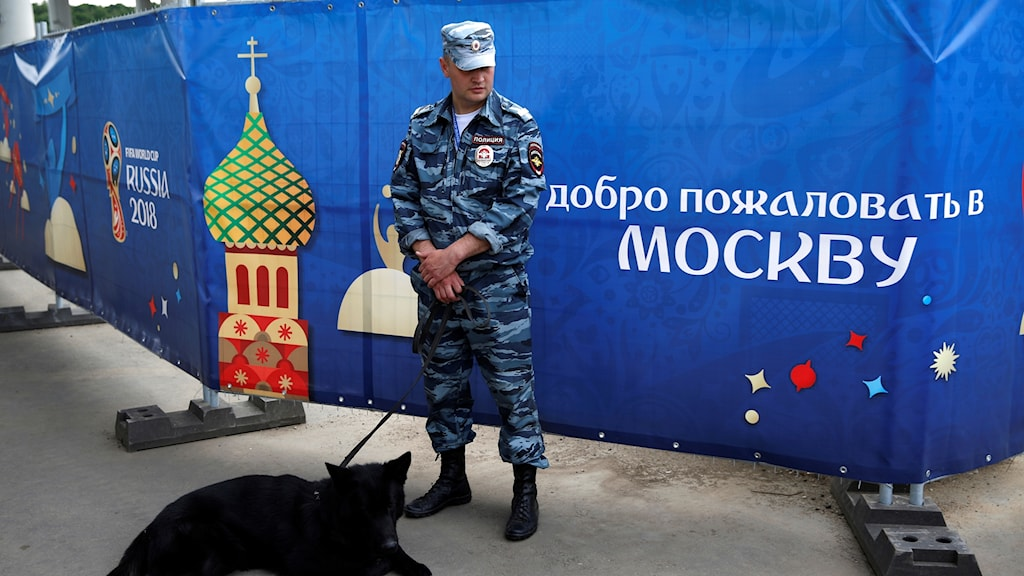 Rysk polis under fotbolls-VM-