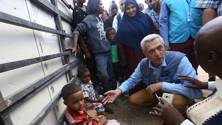 Flyktingläger.