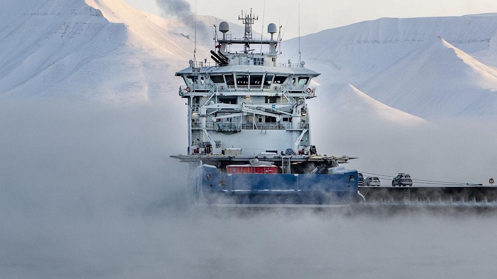 EN isbrytare på Arktis