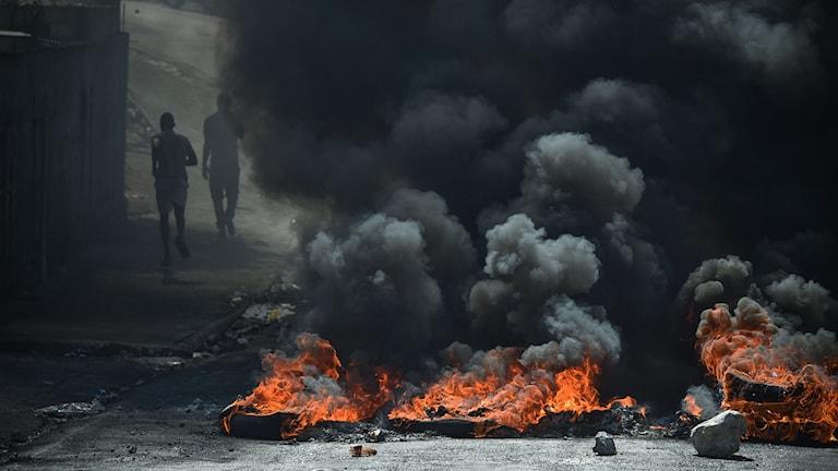 Haiterna protsterar mot president Jovenel Moise