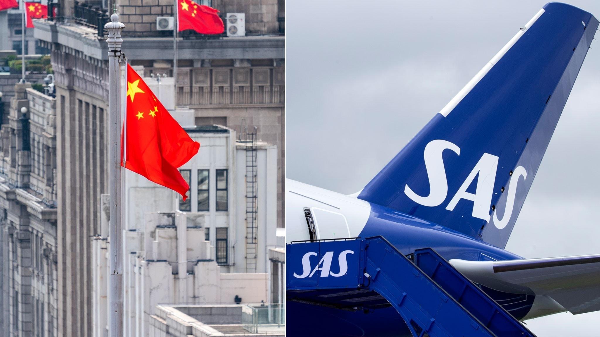 SAS skyldiga miljarder till Kina
