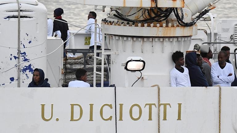 italienska kustbevakningens fartyg Diciotto