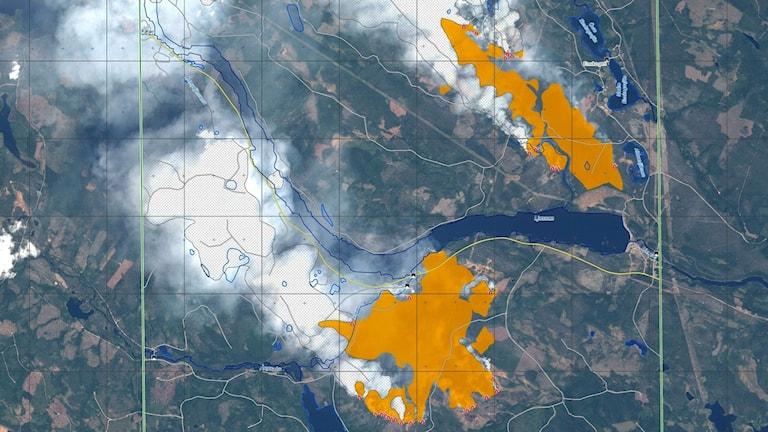 skogsbrand karta Karta över de största bränderna   Nyheter (Ekot) | Sveriges Radio skogsbrand karta