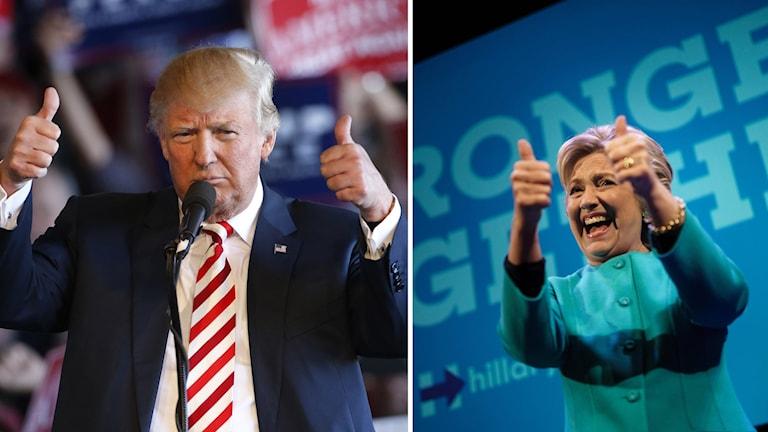 Donald Trump och Hillary Clinton.