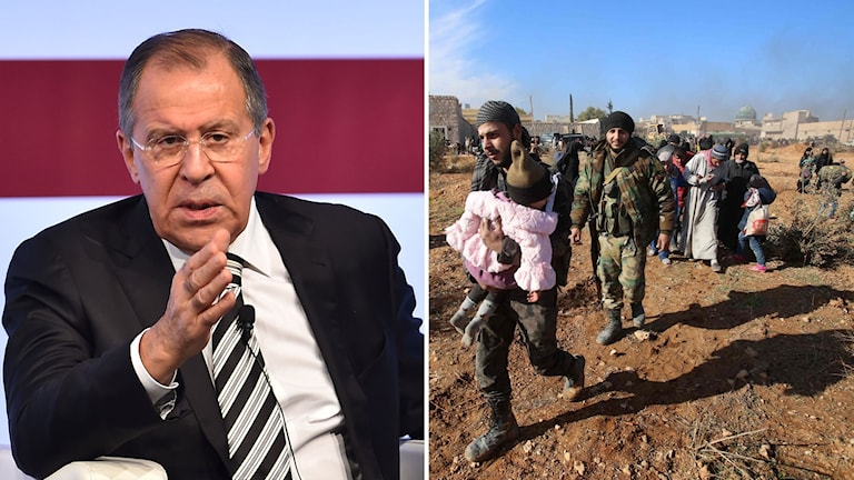 Rysslands utrikesminister Sergej Lavrov, har den syriska regeringsarmén gjort ett tillfälligt uppehåll i attackerna mot östra Aleppo för att civila ska kunna evakueras.