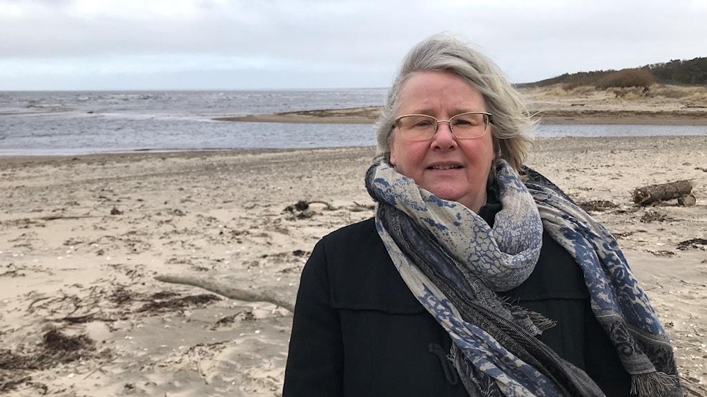 Sylvia Waara, universitetslektor vid högskolan i Halmstad. Foto: Petra Haupt/Sveriges Radio