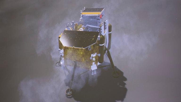 Den kinesiska rymdsonden Chang-e har landat på månen