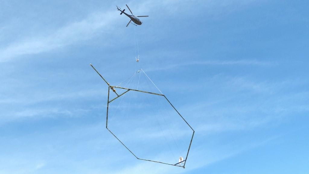 SGU Vattensöker via TEM och helikopter, Foto: Peter Weyde, Sveriges Radio