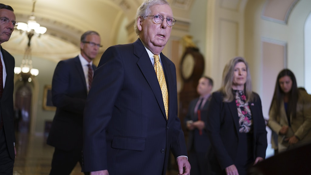 Senatens minoritetsledare, republikanen Mitch McConnel