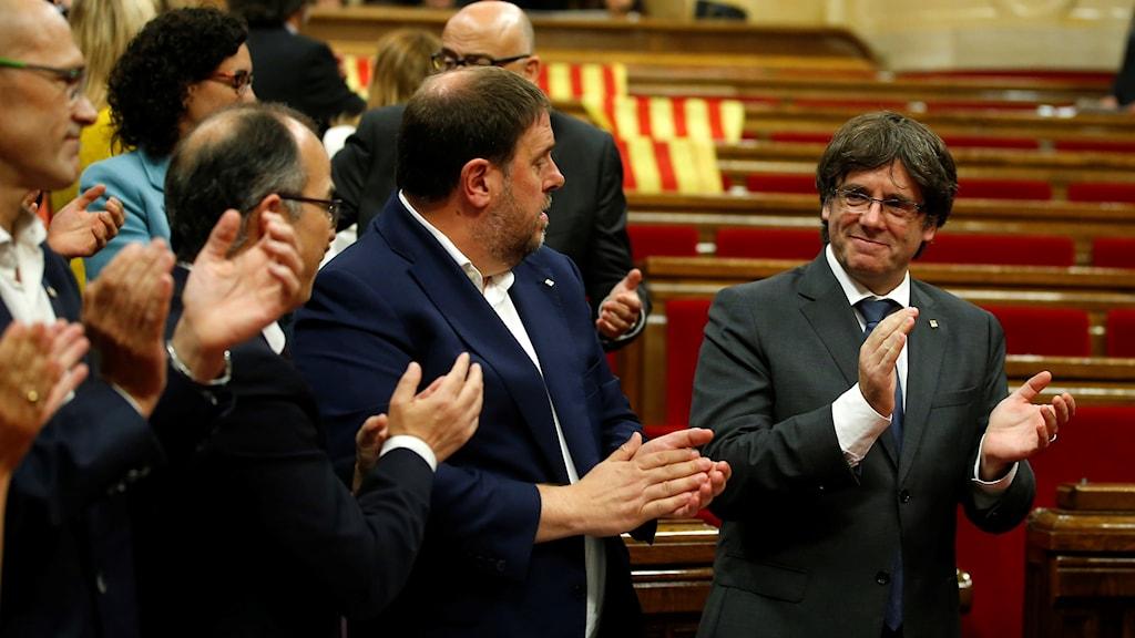 Interiör från Kataloniens parlament.