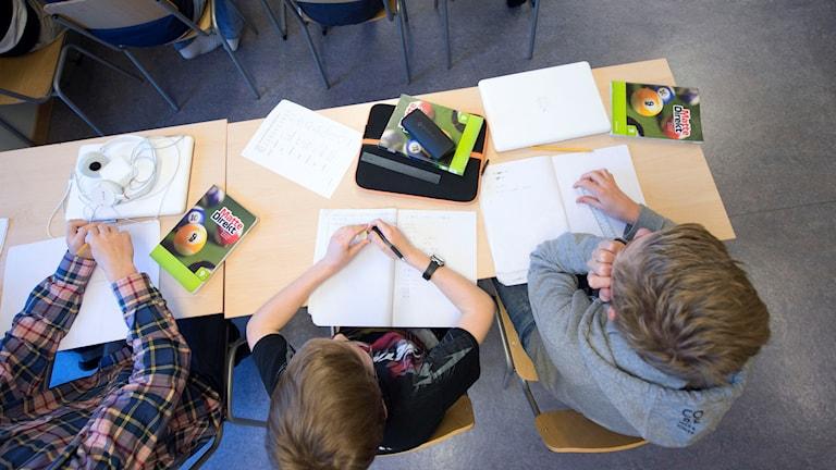 Klassrum med elever.