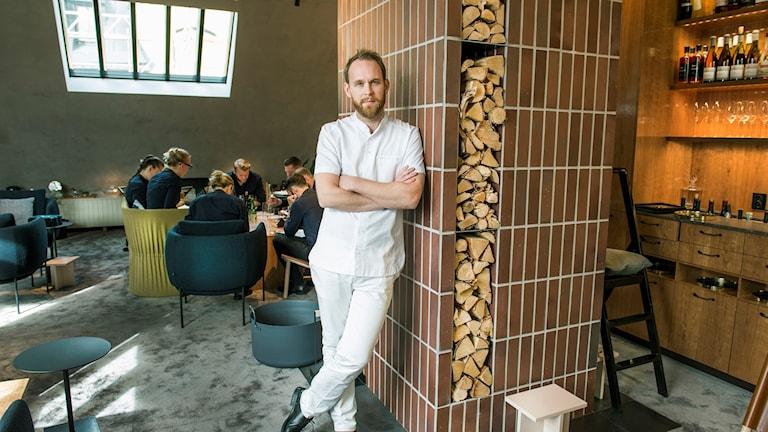 Kocken och krögaren Björn Frantzén i sin nya restaurang på Klara Norra Kyrkogata