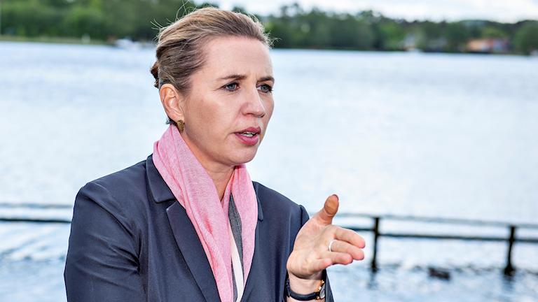 Danska Socialdemokraternas ledare, Mette Frederiksen.
