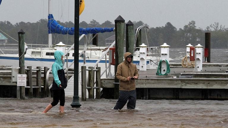 Floden Neuse, New Bern, North Carolina, 13 september. Foto: Gray Whitley/TT.