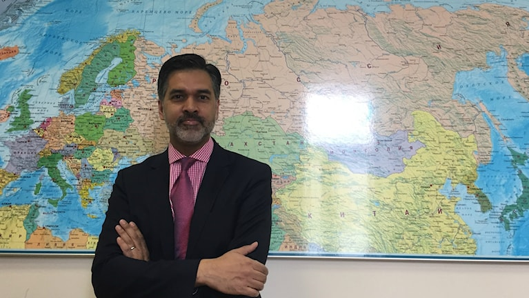 Vinay Saldanha, regionchef på Unaids i Ryssland.