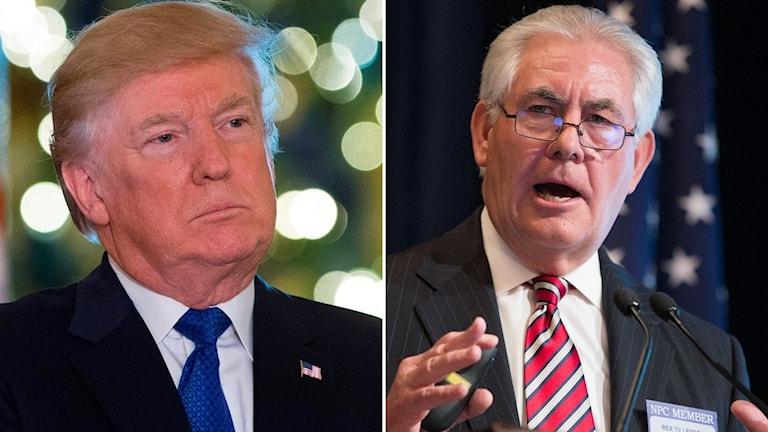 Trump sparkar utrikesminister Rex Tillerson