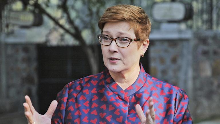 Australiens utrikesminister Marise Payne