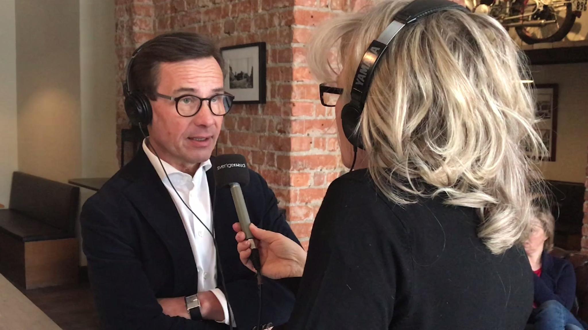 Ulf Kristersson intervjuas.